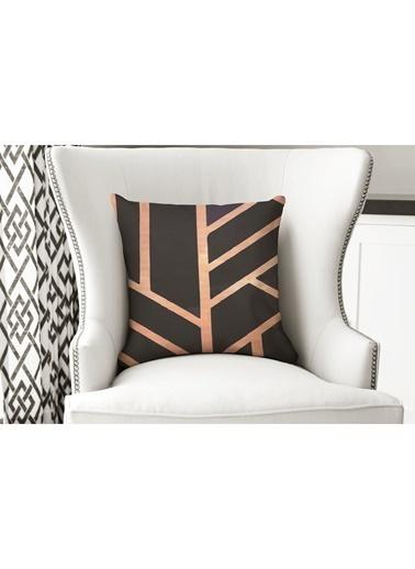 Lyn Home & Decor Yastık Kılıfı Geometrik Siyah Renkli